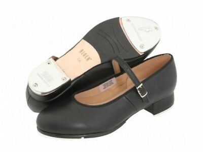 Bloch tap-on tap shoes with ankle strap, size 4 black.  NIB