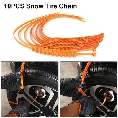 10 PCS Snow Tire Chain for Car Truck SUV Anti-Skid Emergency Winter Driving - S