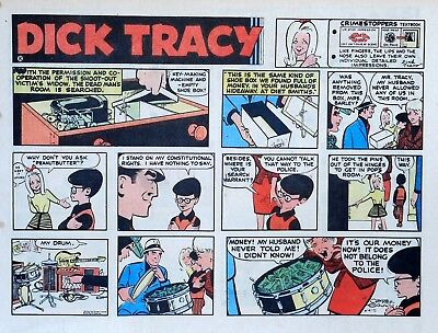 Dick Tracy by Chester Gould - large half-page color Sunday comic - June 4, 1972