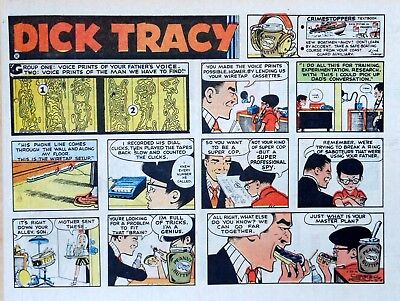Dick Tracy by Chester Gould - large half-page color Sunday comic - June 25, 1972