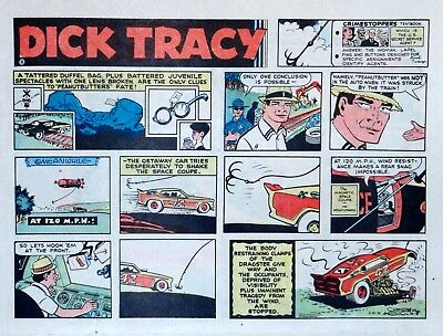 Dick Tracy by Chester Gould - large half-page color Sunday comic - Aug. 20, 1972