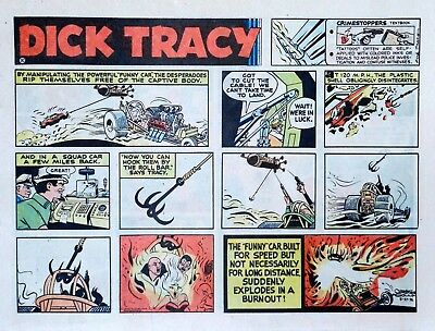 Dick Tracy by Chester Gould - large half-page color Sunday comic - Aug. 27, 1972