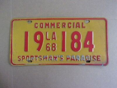 1968 LOUISIANA Commercial License Plate 19-184