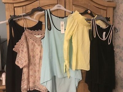 Ladies Summer Top Bundle Size 10 River Island New Look