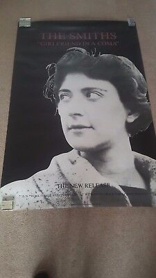 """The Smiths 60"""" X 40"""" Original subway promo poster  """"Girlfriend In A Coma"""""""