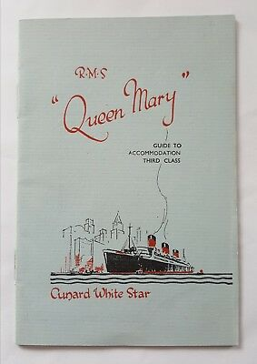 RMS QUEEN MARY ART DECO 1936 3rd CLASS ACCOMMODATION GUIDE CUNARD WHITE STAR