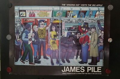 Orig Poster James Pile Subway New York Lex And 77Th Steinbaum Gallery 1985