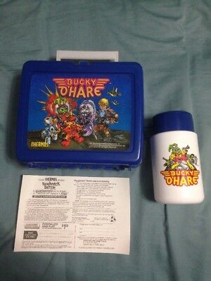Vintage HASBRO BUCKY O'HARE THERMOS PLASTIC Lunchbox w/ Thermos 1991 Unused