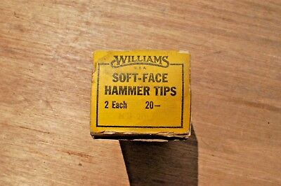 "Williams Hsf-20S Soft Face Hammer Tips 2"" Pair New In Original Box"