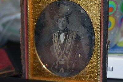Sixth Plate Daguerreotype of Faternal or Lodge Member