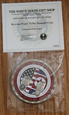 White House Issued Donald Trump & Kim Jong-Un Korean Peace Talks Summit Coin