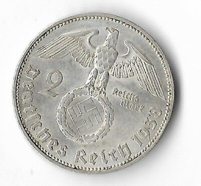 Rare Old Antique Silver 1938 WWII VIENNA Germany Eagle Great War Collection Coin