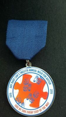 """San Antonio Fiesta Medal 2016 """"ANY BABY CAN"""" 12Th Annual Walk For Autism NEW!"""