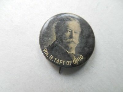 William Howard Taft Of Ohio Presidential Pin Back Campaign President Button