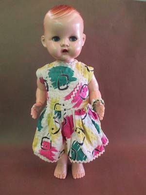 Doll, hard plastic, original dress, 1950s, English, vintage