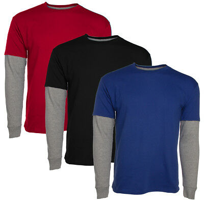 6ba5aa023538 Hanes Tagless Long Sleeve T Shirt For Boys Kids Premium 2-Tone Breathable  Cotton