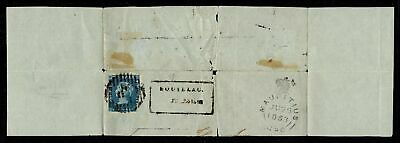Mauritius 1848 2d Blue Post Paid QV Early Impression on Cover Certificate RRRRR