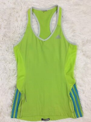 Adidas Climalite Bright Neon Green Racerback Workout Tank Top Size Small