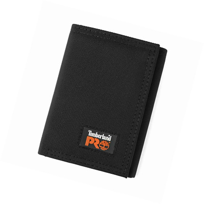 Timberland PRO Men's Cordura Velcro Nylon Rfid Trifold Wallet with ID Window