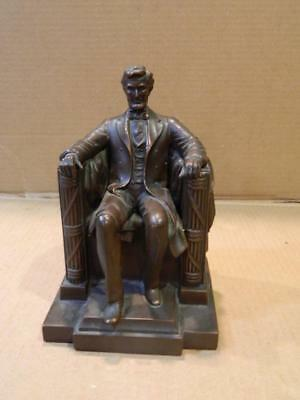 JB Jennings Bros Abraham Lincoln Statue Mixed Metals Bronze Finish Antique