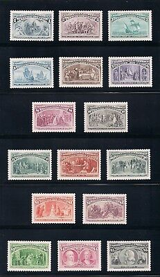 COLUMBIAN EXPOSITION EXPO - 100th ANNIV - COMPLETE SET OF 16 U.S. POSTAGE STAMPS
