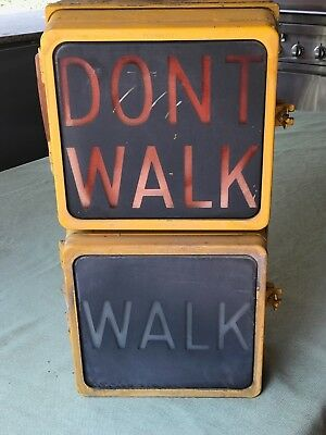 Vintage Econolite - Walk Don't Walk - Ped Sign