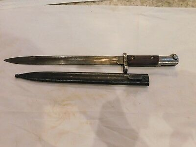 Czech Mauser Bayonet With Scabbard Crossed Horseheads on Blade Circle M stamp