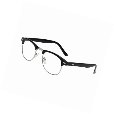 Vintage Inspired Classic Half Frame Clear Lens Glasses 9091 Holiday ...