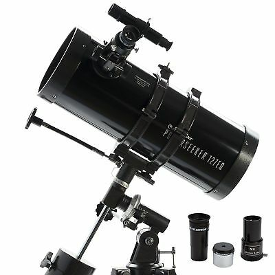 Celestron 127EQ PowerSeeker Telescope + Aluminum Tripod and Accessory Tray
