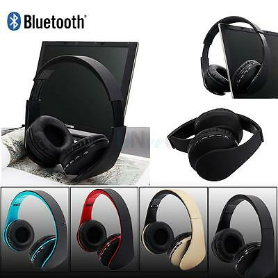 Bluetooth FM Stereo MP3 Player Headsets Foldable Headphones Microphone Universal