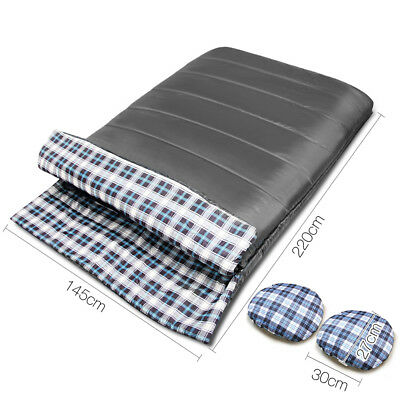 Double Thermal Sleeping Bag -10 Celsius to +15 Celsius Envelope 145cm