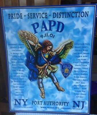 PAPD WTC St MICHAEL 911 World Trade Center Memorial Poster Port Authority NY/NJ