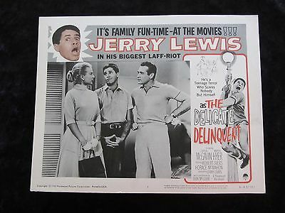 The Delicate Delinquent lobby card # 1 - Jerry Lewis - R62 lobby card
