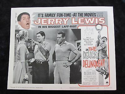 The Delicate Delinquent lobby card # 5 - Jerry Lewis - R62 lobby card
