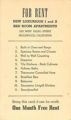"""""""Apartment For Rent"""", 225 West Kelso Street, Inglewood, California CA"""