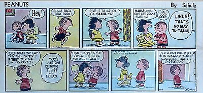 Peanuts by Charles Schulz - full color Sunday comic page - January 6, 1957
