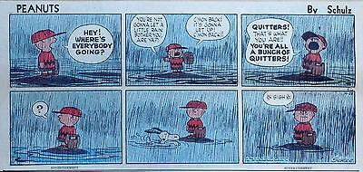 Peanuts by Charles Schulz - full color Sunday comic page - April 28, 1957