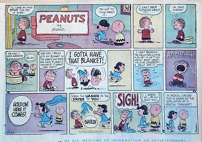 Peanuts by Charles Schulz - large half-page color Sunday comic - Nov. 22, 1959