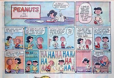 Peanuts by Charles Schulz - large half-page Sunday color comic, January 3, 1960