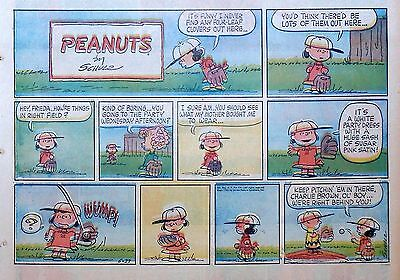 Peanuts by Charles Schulz - large half-page color Sunday comic - May 27, 1962