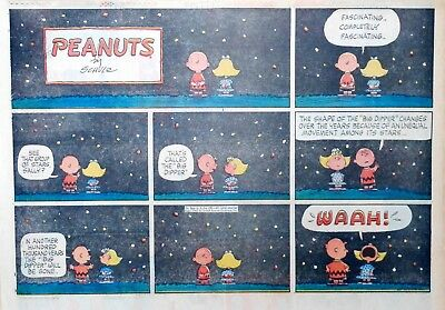 Peanuts by Charles Schulz - large half-page color Sunday comic - June 9, 1963