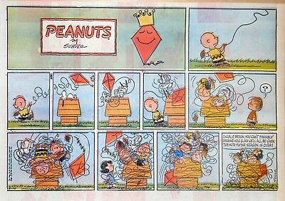 Peanuts by Charles Schulz - large half-page Sunday color comic - March 10, 1963