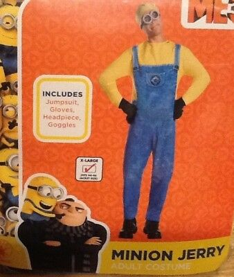 Despicable Me Three Licensed Minion Jerry Adult Costume XL 44-46 NEW
