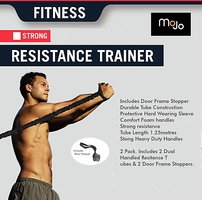 2 x MoJo Exercise Resistance Bands  Body Gym Yoga Strech Fitness Workout Fit