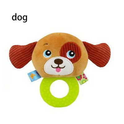 Baby Rattles Hand Bell Toddler Infant Rings Interactive Cute Animal Plush Toy C5