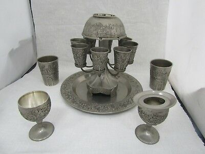 Karshi 8 cup Judaica Wine Fountain  Plus extra Pieces