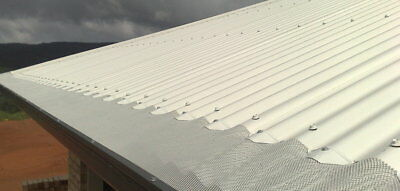 Fire Proof Aluminium Gutter Guard - Complete DIY Package to suit Corrugated Roof