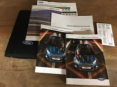 Ford Fiesta Owners Manual Book Pack Handbook Instructions Service History