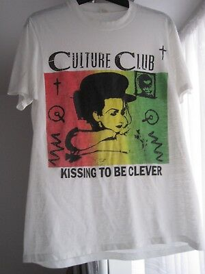 Culture Club 80s original vintage T-shirt - Kissing to be clever