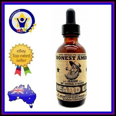 Honest Amish | Classic Beard Oil | Natural Organic Conditioner Soften 60Ml
